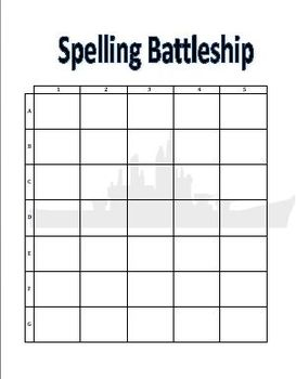 Spelling Battleship Form with Directions