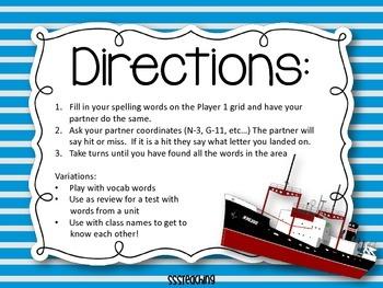 Spelling Battleship with bigger boards!