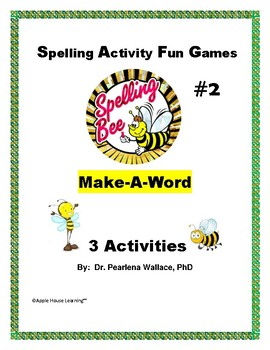 Spelling Activities #2~ Make A Word ~ Vocabulary  Game