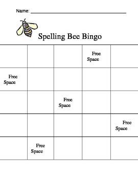 Spelling Bee Bingo Game