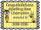 Spelling Bee Certificate (2015-2016)