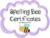 Class Spelling Bee Certificates