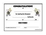 Spelling Bee Certificates