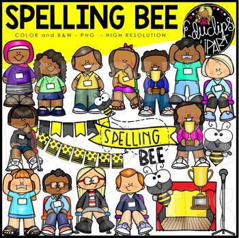 Spelling Bee Clip Art Set {Educlips Clipart}