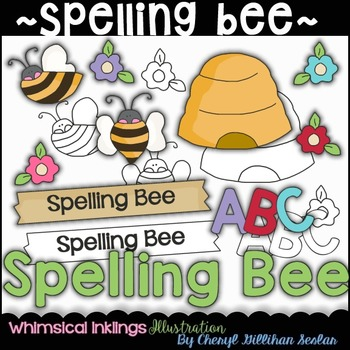 Spelling Bee Clipart Collection