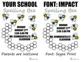 Spelling Bee Flyer-Editable