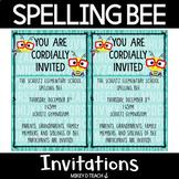 Spelling Bee Invitations FREEBIE