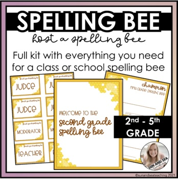 Spelling Bee Kit: EVERYTHING YOU NEED!
