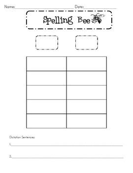 Spelling Bee Packet