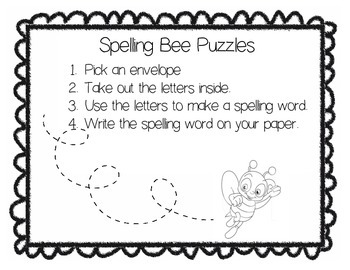 Spelling Bee Puzzles