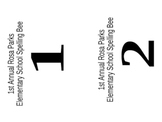 Spelling Bee Signs