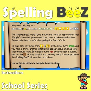 Spelling BeeZ Back to School Game (People)