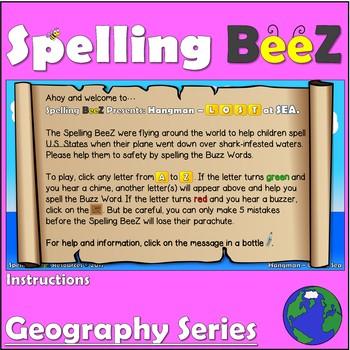 Spelling BeeZ Geography Game (U.S. States 50-word Bundle)