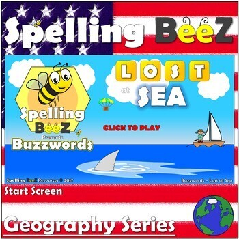Spelling BeeZ Geography Game (U.S. States Vol. 3)