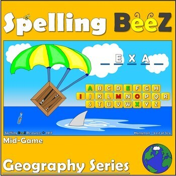 Spelling BeeZ Geography Game (U.S. States Vol. 1)