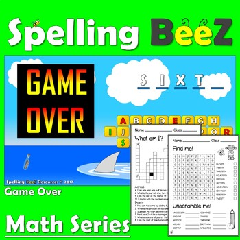 Spelling BeeZ Math Game (Ordinals 1-10)