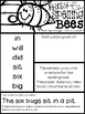 Spelling Bees [Cute As Can Bee Sp. Lists for Gr. 1 - Harcourt Journeys - Unit 2]