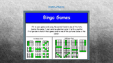 Spelling Bingo Games for use with Smart Notebook.