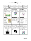 Spelling Bingo Homework Choice Board- Bloom's Activities to Engage All Learners