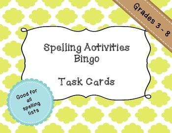 Spelling Bingo - Middle School appropriate
