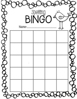Spelling Word Bingo - FREEBIE!