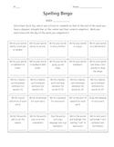 Spelling Bingo for Upper Elementary