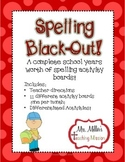 Spelling Black-Out Years worth of NO PREP  Differentiated