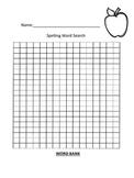 Spelling Blank Word Search