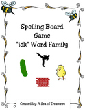 "Spelling Board Game: ""ick"" Word Family"