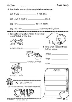 Spelling – Book 2 - Ages 6-7