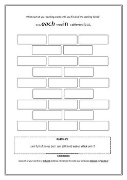Spelling Book (Letters and Sounds / Words Their Way) WHOLE TERM Activity Book