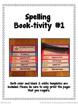 Spelling Book-tivities: 7 hands-on spelling booklet activities