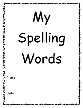 Spelling Booklet for Word Study or Sight Word Practice