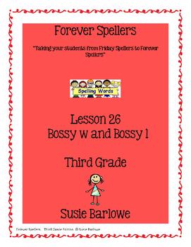 Spelling - Bossy w and Bossy l - 3rd Grade