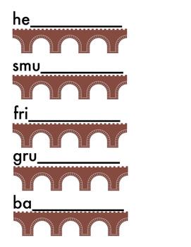 Spelling Bridge!  Orton Gillingham based Multisensory activities for -dge