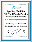 Spelling Buddies 20 Printable Word Family Phonics Poems with Flipbooks