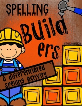 Spelling Builders [a differentiated word work activity]