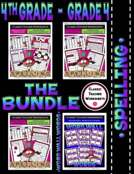 Spelling Bundle - Spelling and Word Wall Words - 4th Grade (Grade 4)