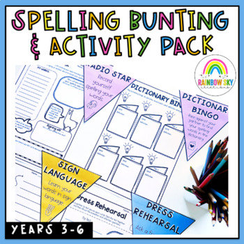 Spelling Bunting Activity Pack - Complete Set