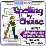 Spelling By Choice Self-Directed Spelling Activities