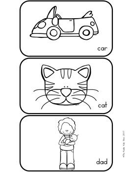 Spelling CVC Word Task Cards
