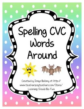 Spelling CVC Words Around the Room