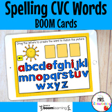 Spelling CVC Words Boom Cards Distance Learning