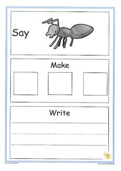 Spelling CVC Words: Say Make Write