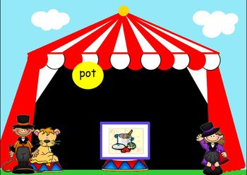 Spelling CVC words - Fun at the Circus