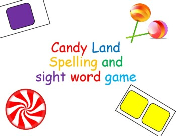 Spelling Candyland Blank Cards