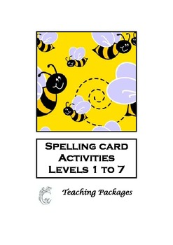 Spelling Card Activities Levels 1 to 7