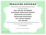Spelling Center Activities