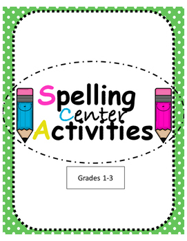 Spelling Center Activities- ENGLISH