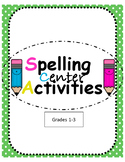 Spelling Center Activities- ENGLISH